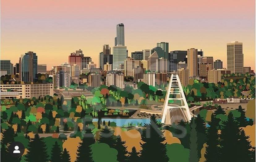 City of Edmonton at Dusk