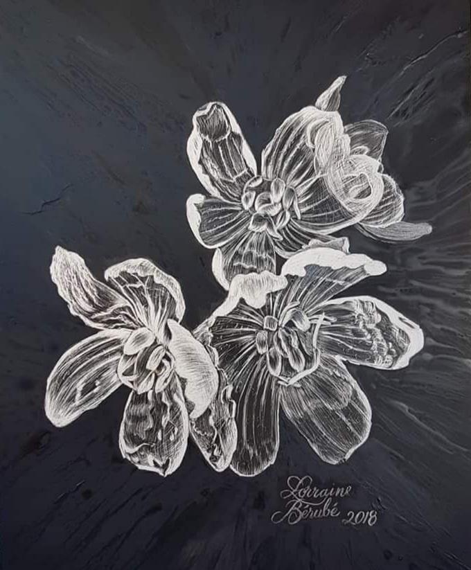 Wet Skeleton Flowers