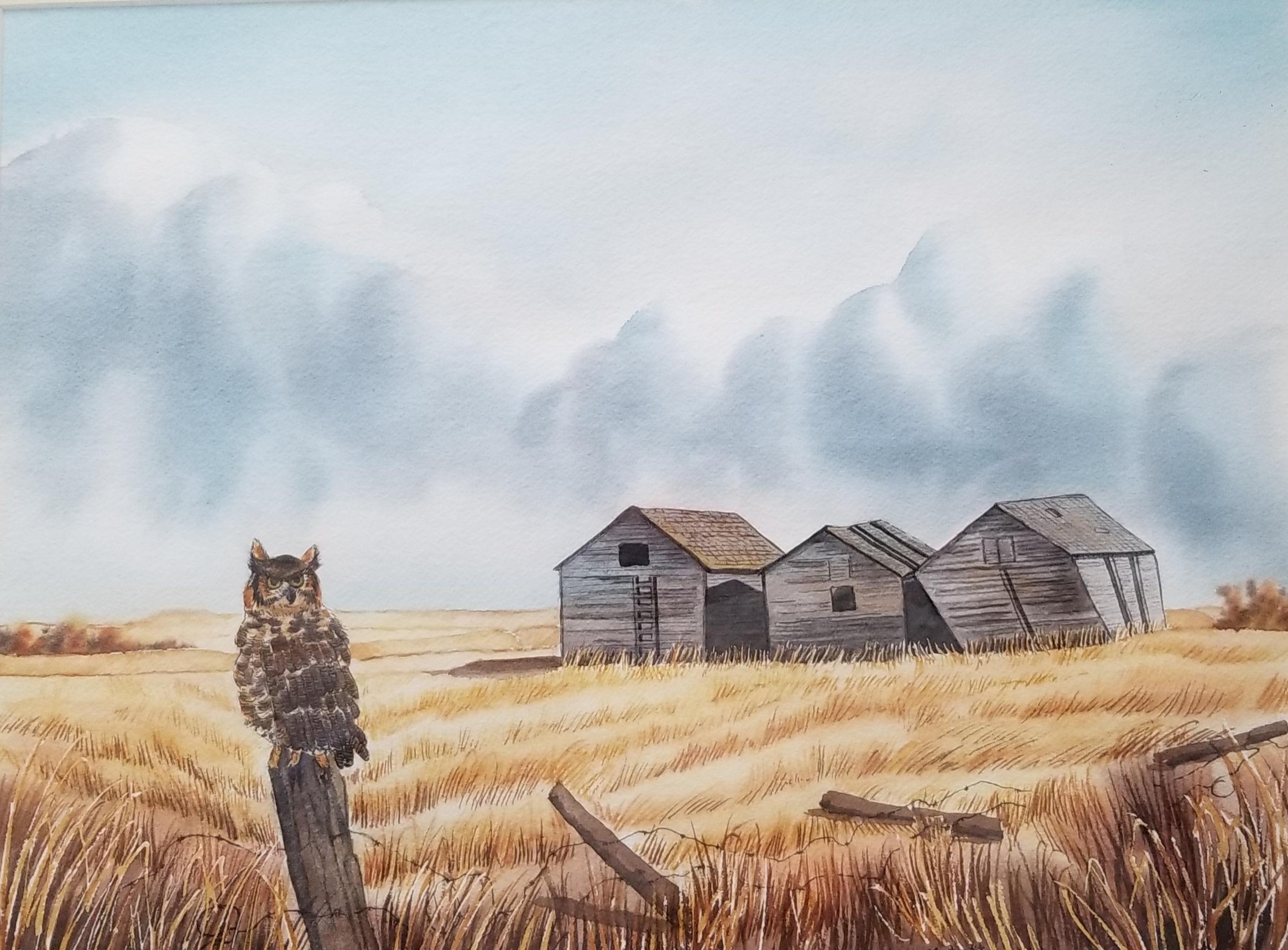 Owl and Three Bins