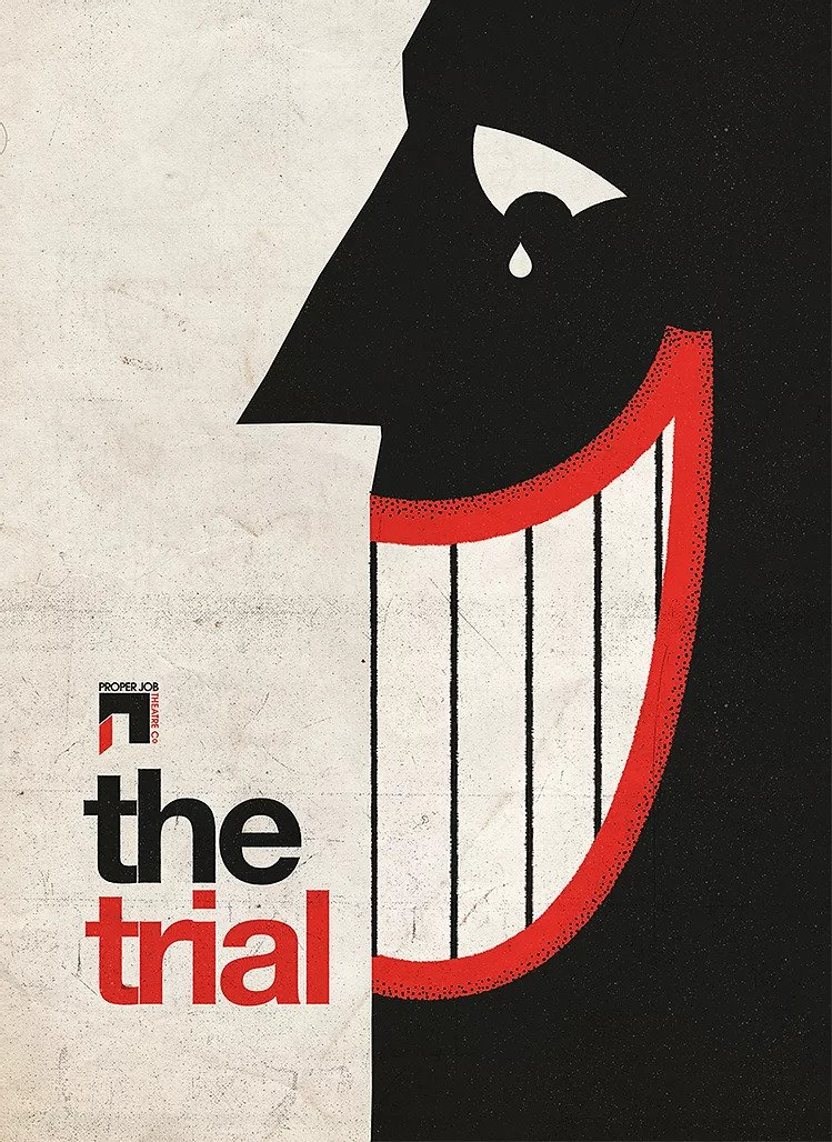 The poster artwork for the 2021 production of The Trial