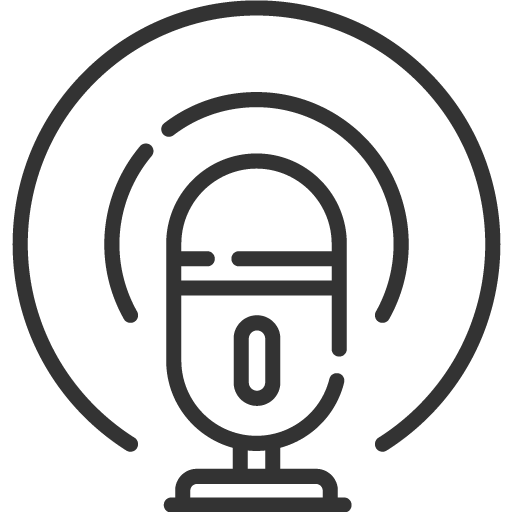 Podcasting mic icon