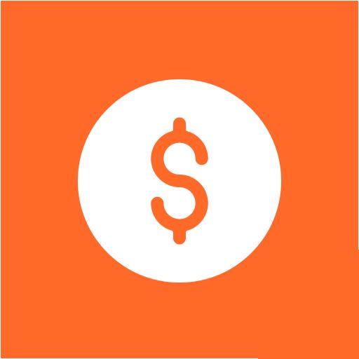 Dollar sign symbol icon