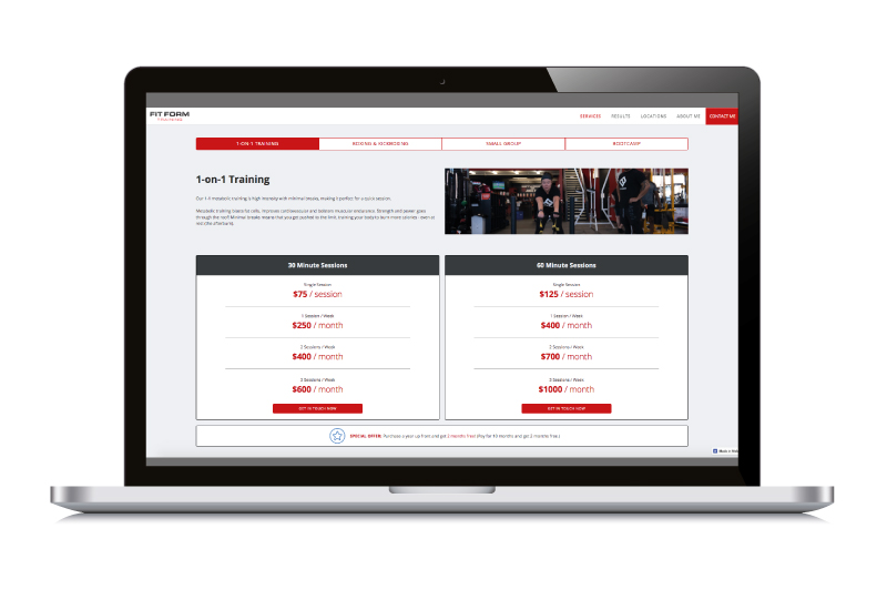 Fit Form Training Case Study