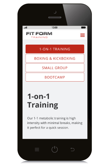Fit Form Training Mobile Before and After