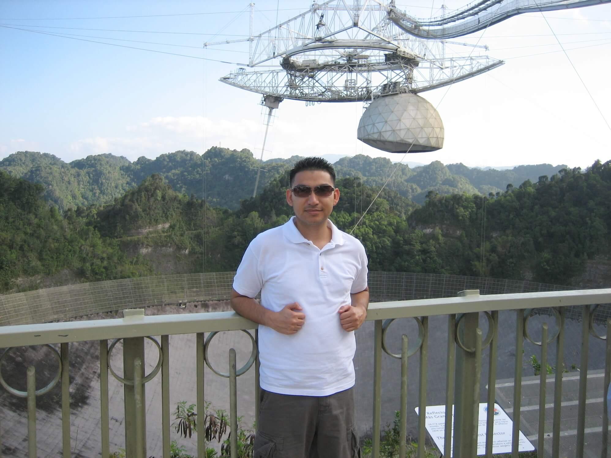 Adonis Salazar in Arecibo Observatory