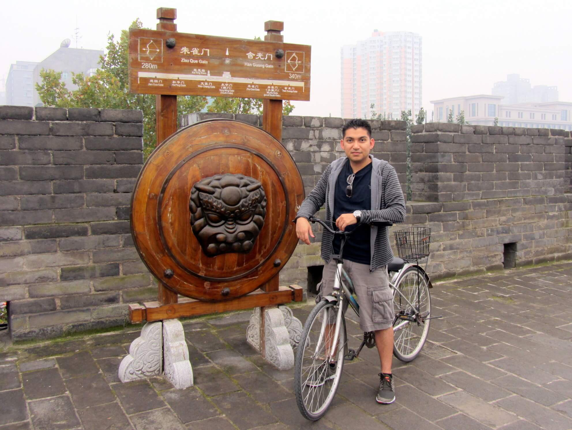 Adonis Salazar at Xi'an City Wall