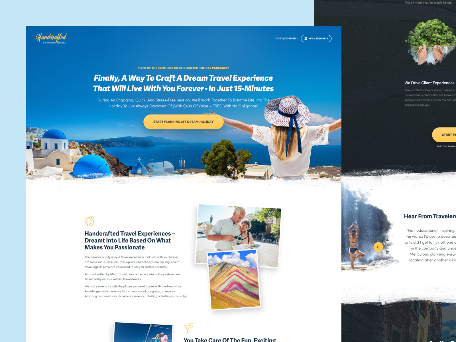 Metro Travel - Website Design for Travel Agency Case Study