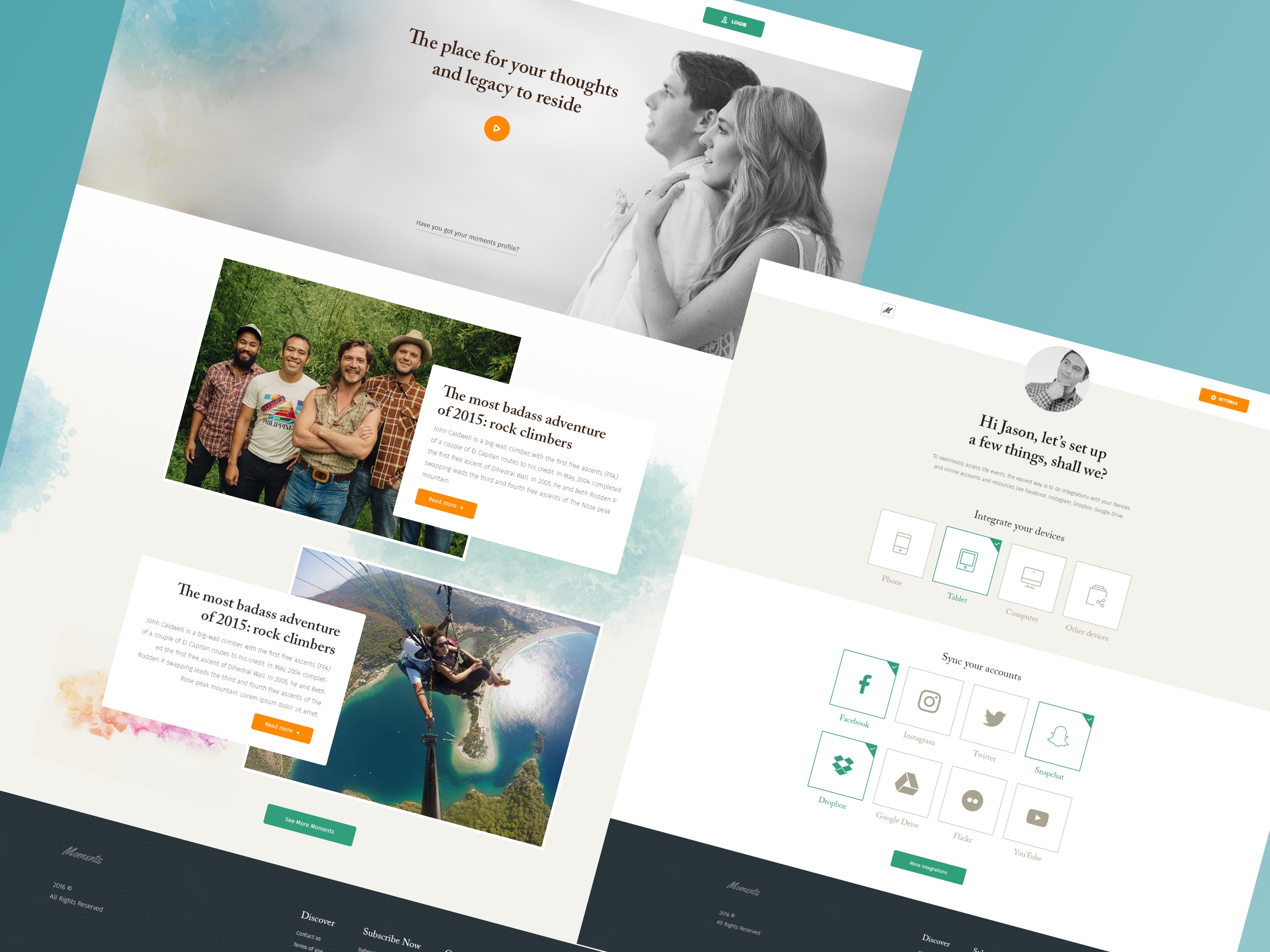 Moments - Website Design Case Study