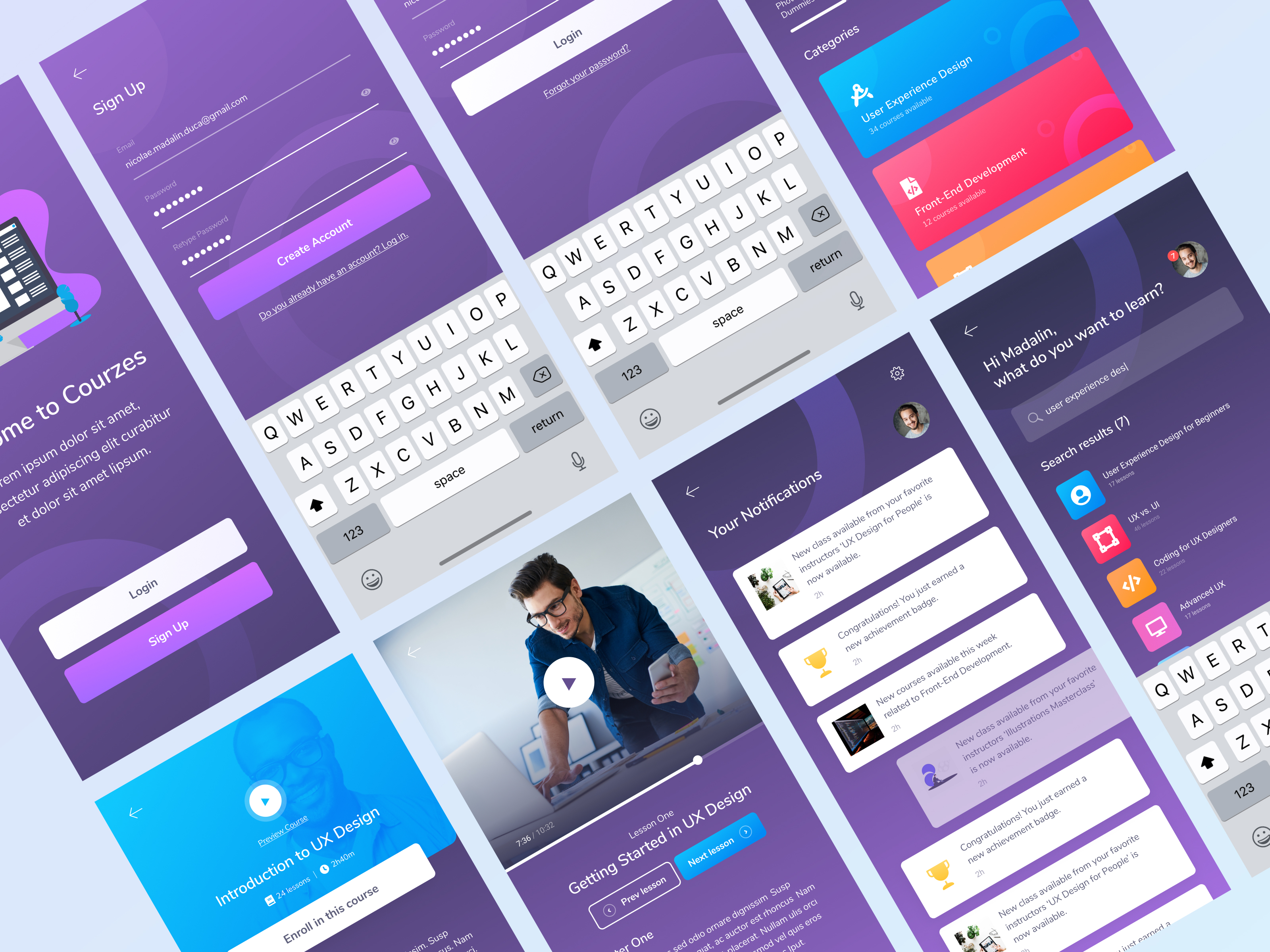 Coursez - Mobile App Design for Online Courses Case Study