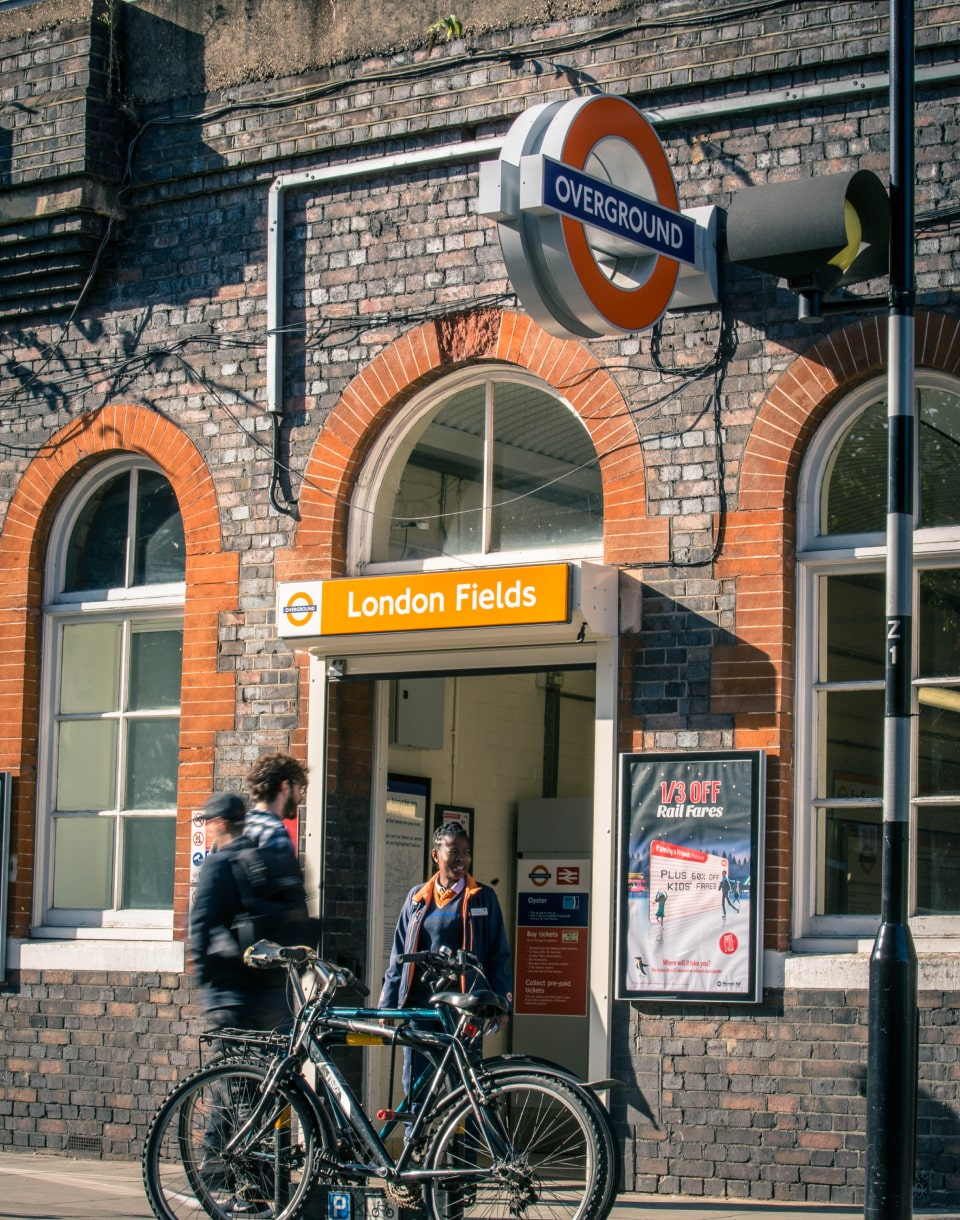 London Fields overground station
