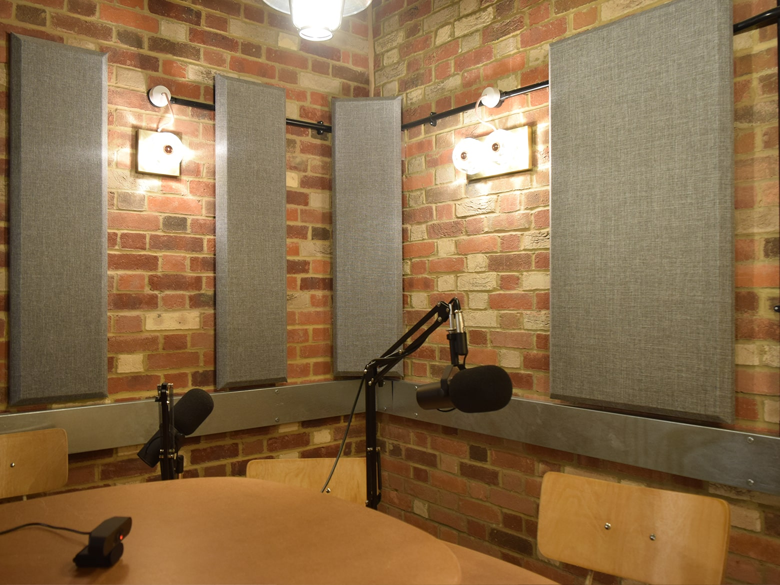 recording room in podcast suite