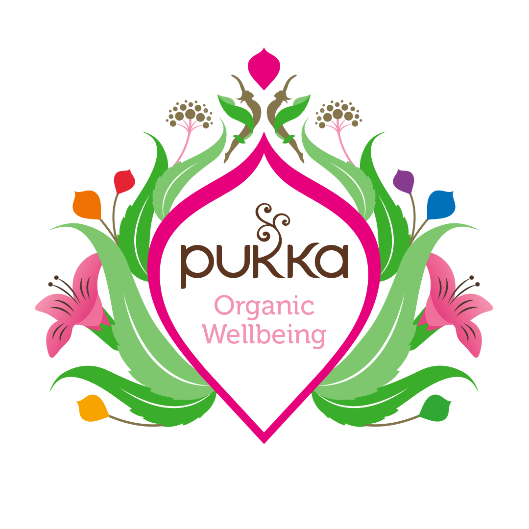 Pukka range of herbal supplements designed and illustrated by Mutiny Agency.  The designs took the same aspects of the holding device and iconography created for the Pukka brand of herbal teas but simplified to create a better use of white space and bold colour which holds the information required whilst still looking clean, sharp and uncluttered on shelf and online. Branding, Packaging design, Pukka logo design created by Mutiny Agency.