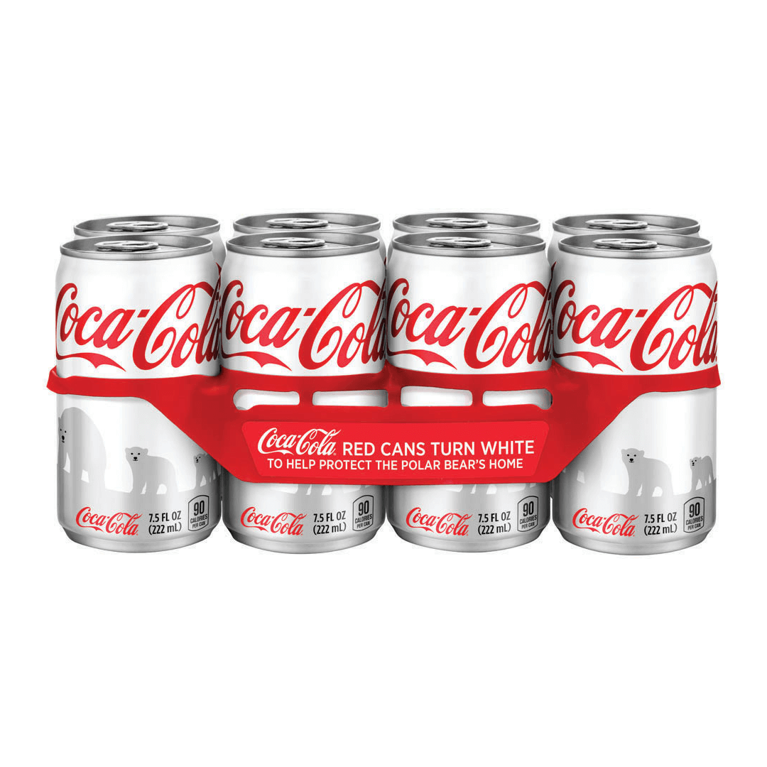 Coca-Cola Polar Bear World Wildlife Fund can design and logo by Mutiny Agency. Working with Turner Duckworth San Francisco Mutiny Agency designed the packaging and cans which became the marketing and the vehicle for conversation. The packaging helped fill the knowledge gap and drove consumers to find out more and donate, which Coca-Cola matched dollar-for-dollar for the WWF.