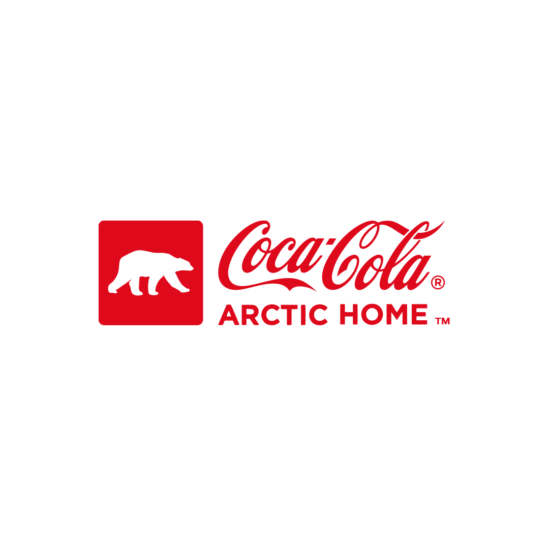 Coca-Cola Polar Bear World Wildlife Fund Can design and logo, designed by Mutiny Agency  with Turner Duckworth San Francisco. Mutiny Agency created the polar bears and styling that adorned every can and piece of packaging and turned the iconic Coke cans white for the first time in Cokes history to kick start the campaign and cause a stir. Packaging Design, London Olympics, Coca-Cola designed by Mutiny Agency.