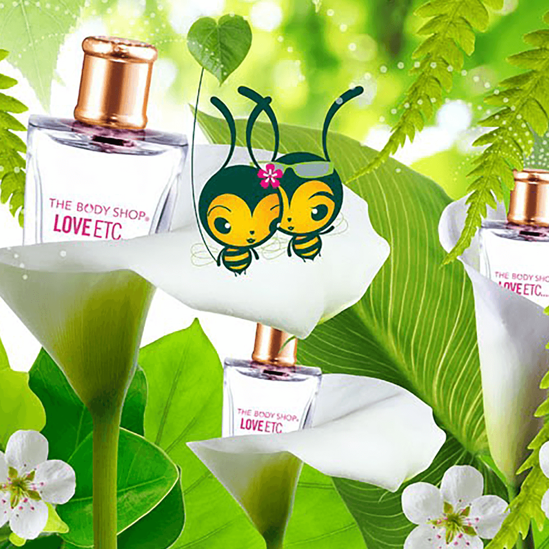 The Body Shop Animation film created following the merger with L'Oréal group was created by Mutiny Agency and includes  Branding, design, animation, info graphic, designed and created by Mutiny Agency for The Body Shop. Love ETC perfume by Body Shop.