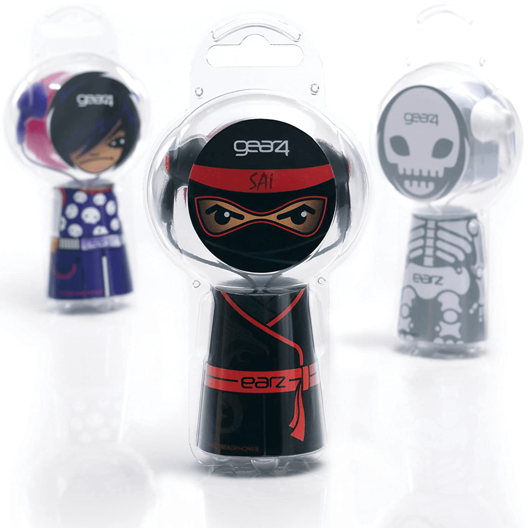 Gear 4 children's range of Headphones called EARZ packaging is designed and illustrated by Mutiny Agency. Mutiny Agency Effectively turned the packaging into a toy for Gear 4 Headphones and helped the product GEARZ stand off the shelves, the packaging became a discussion point and also added value to the quality product inside. The packaging and character designs  became icons that created a range of heroes that could connect with all facets of music tastes and kids interests in a tangible fun and engaging way.