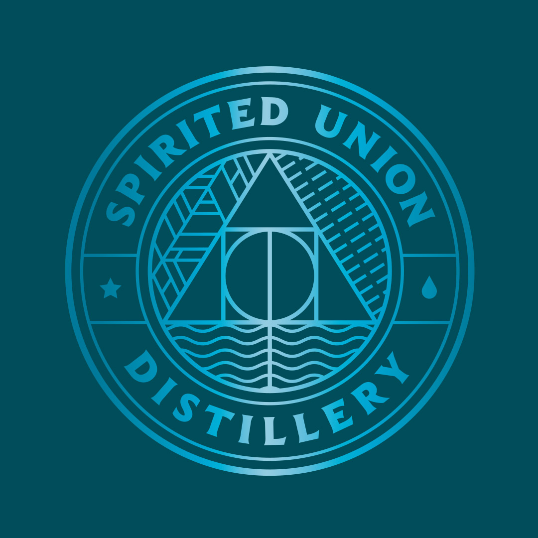 Spirited Union Distillery Logo Design and illustration by Mutiny Agency. Packaging Design, Iconography, Logo and New Product Development created by Mutiny Agency for Spirited Union Distillery.