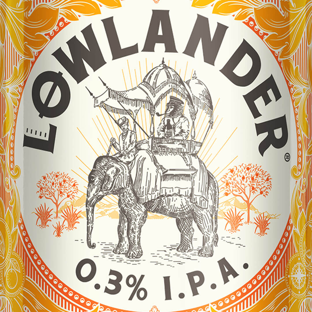 Lowlander 0.3% I.P.A can design by Mutiny Agency