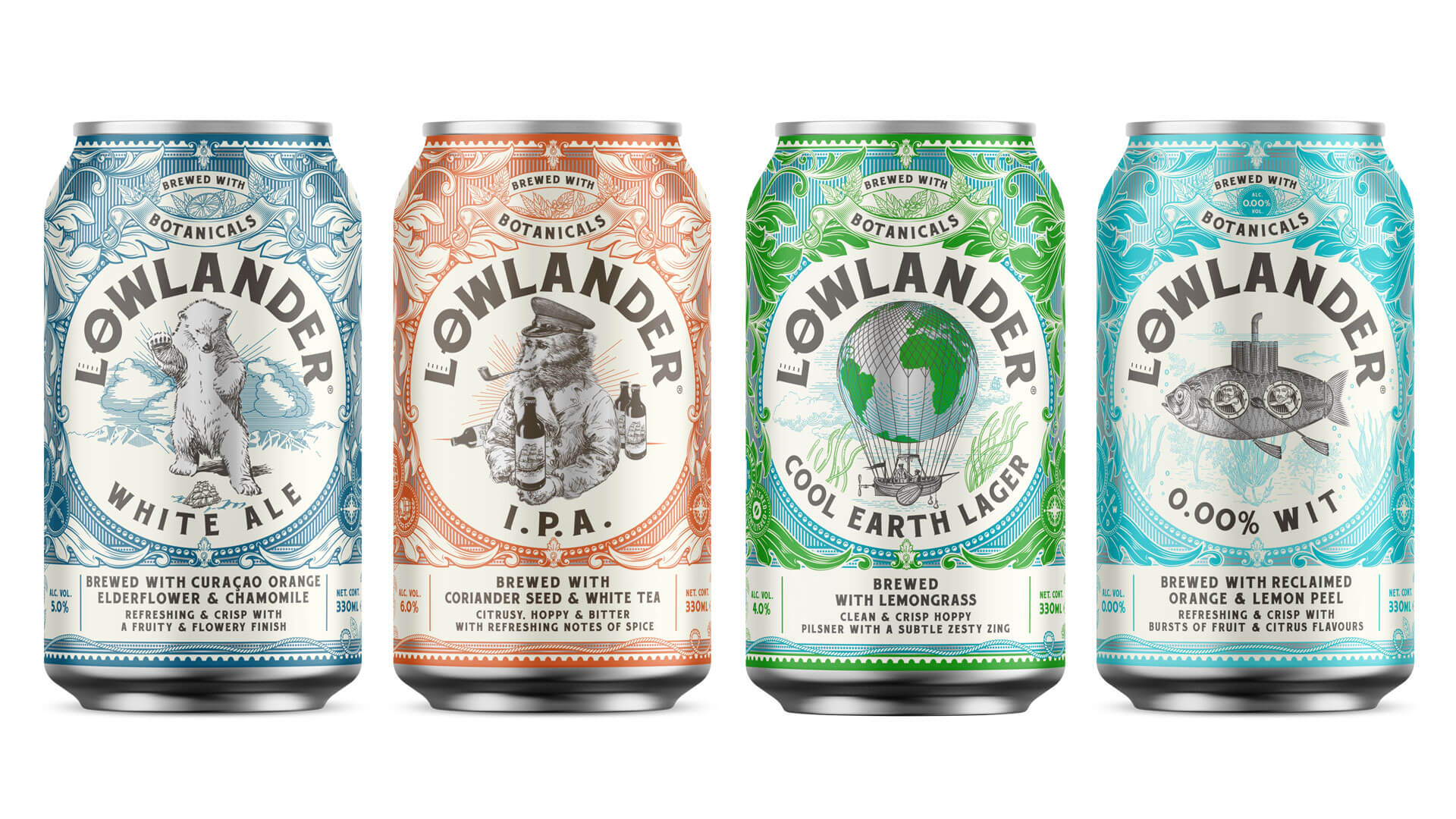 Lowlander Beer can design by Mutiny Agency