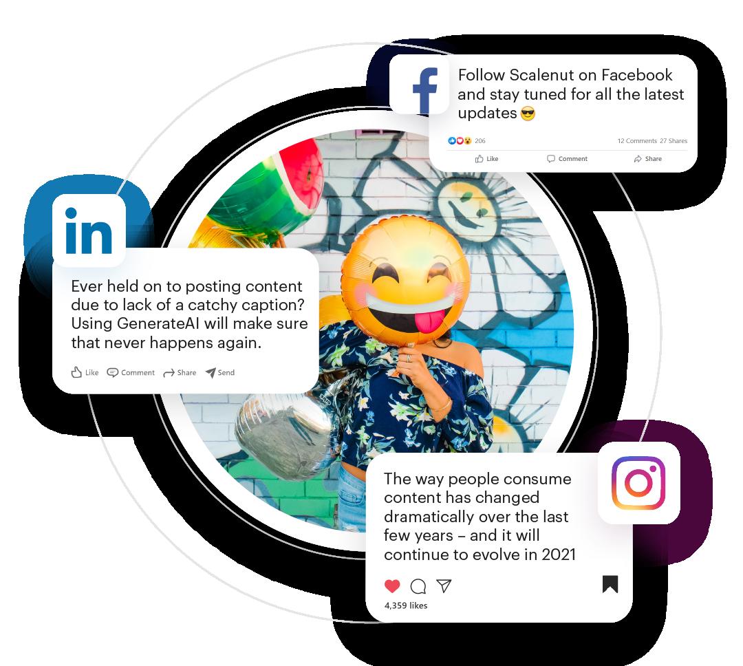 Scalenut GenerateAI-Social Media Caption