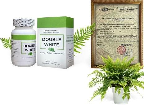 3.Viên uống trắng da cấp tốc Double White của Mỹ