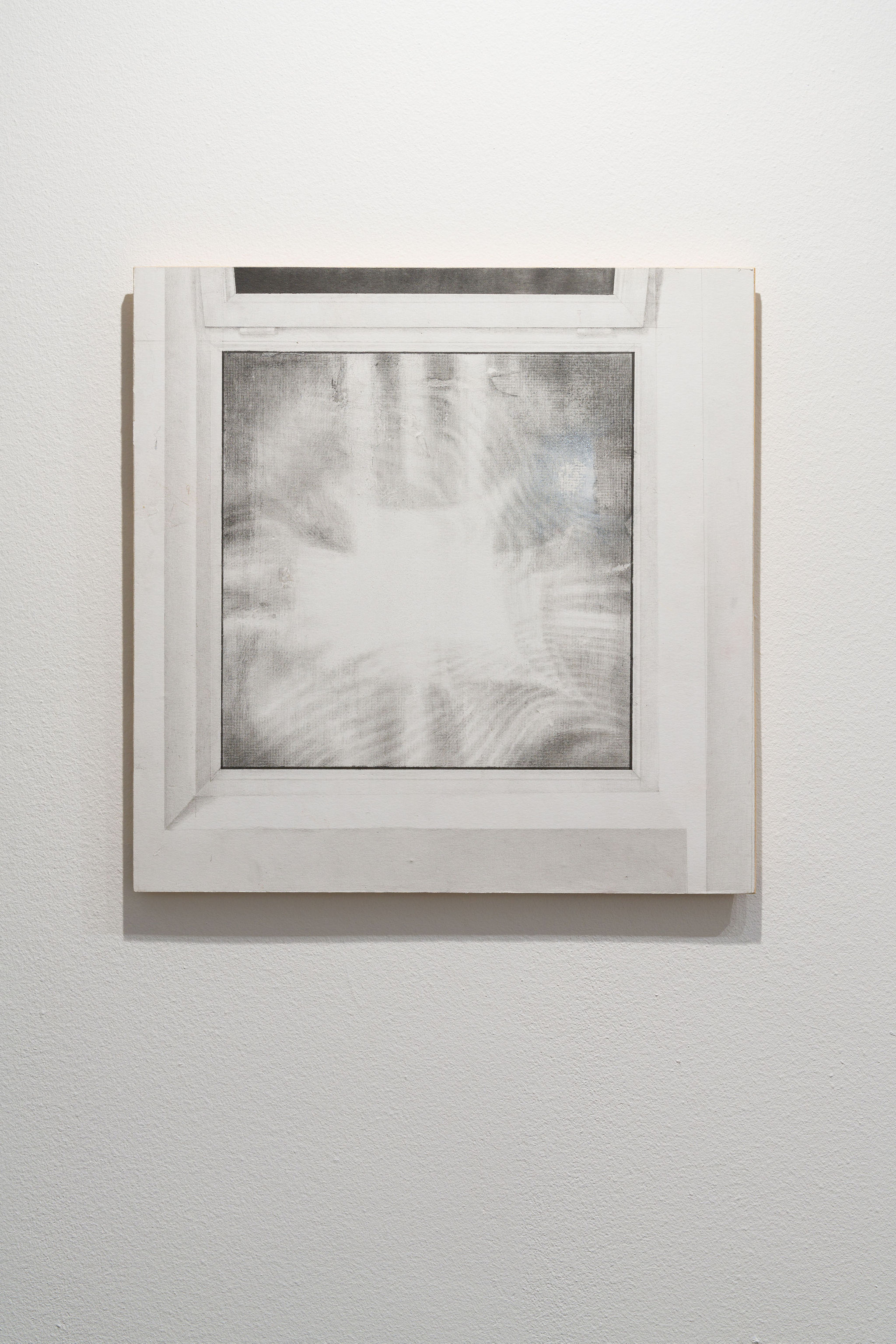 Untitled 2020, Graphite on paper mounted on wood