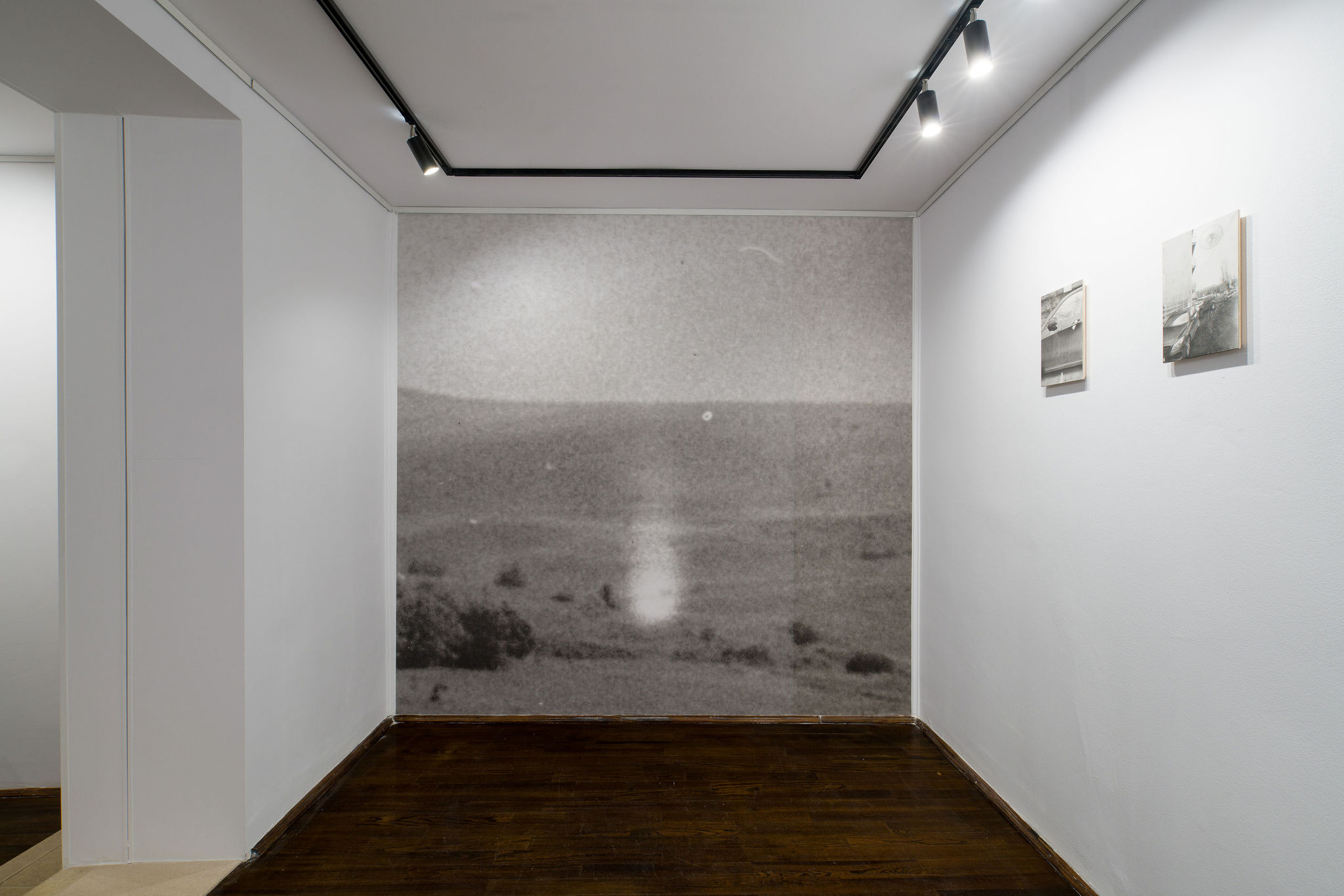 Wall: photograph from archive A. Pătruț: Alexandru Sift, White Bioplasmatic Globe, 1976