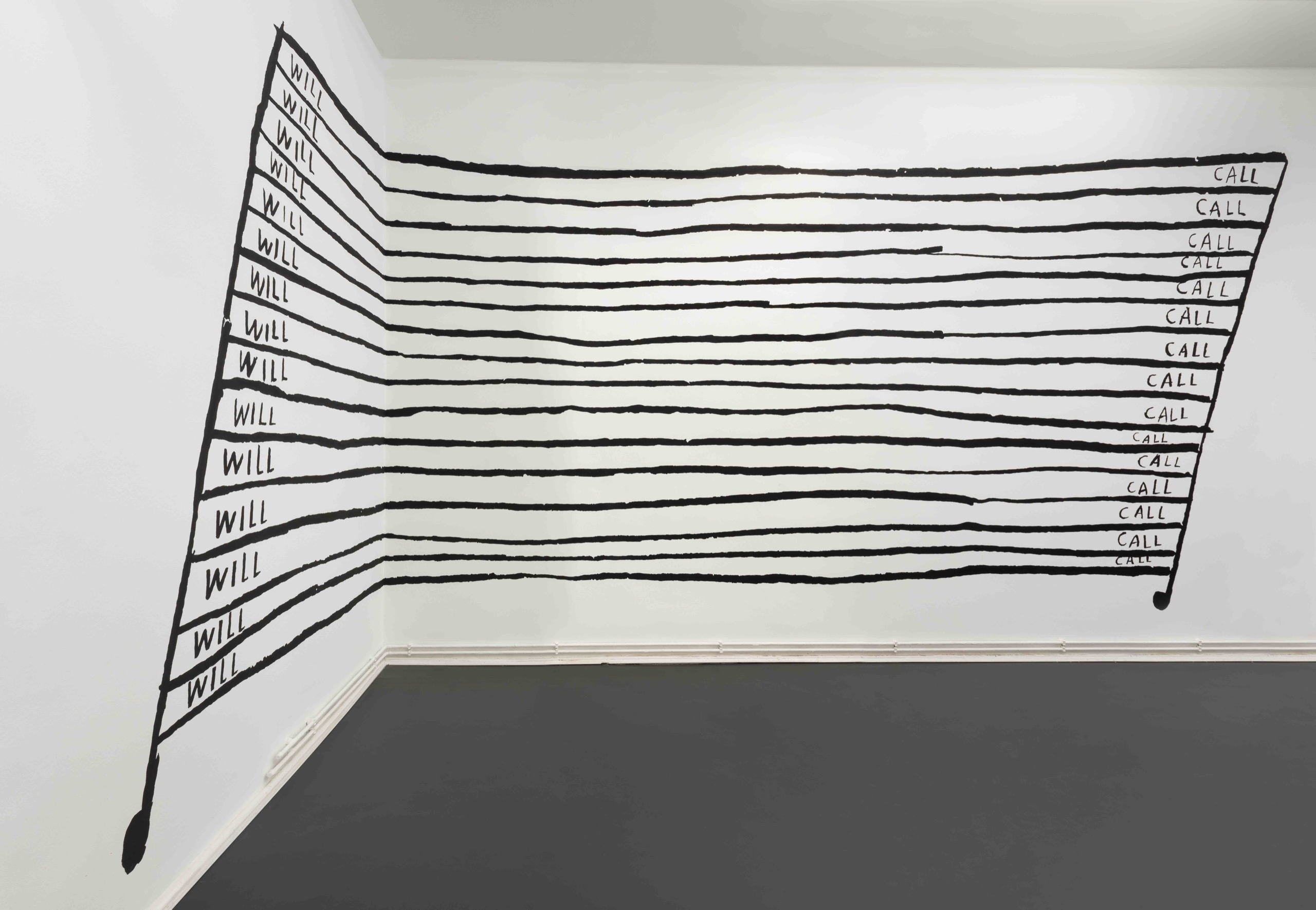 Christine Sun Kim, Will … Call, 2021 wall painting