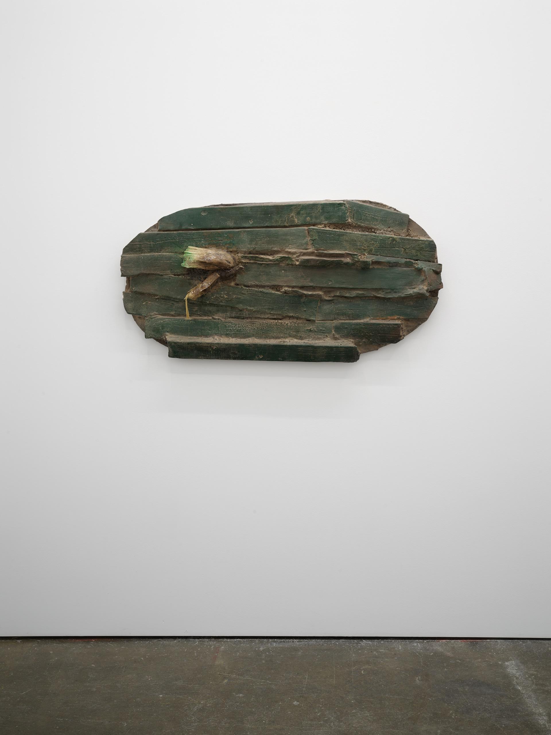 Brandon Ndife, Nantucket , 2021, Cast Aqua resin, earth pigment, enamel, wood, rubber