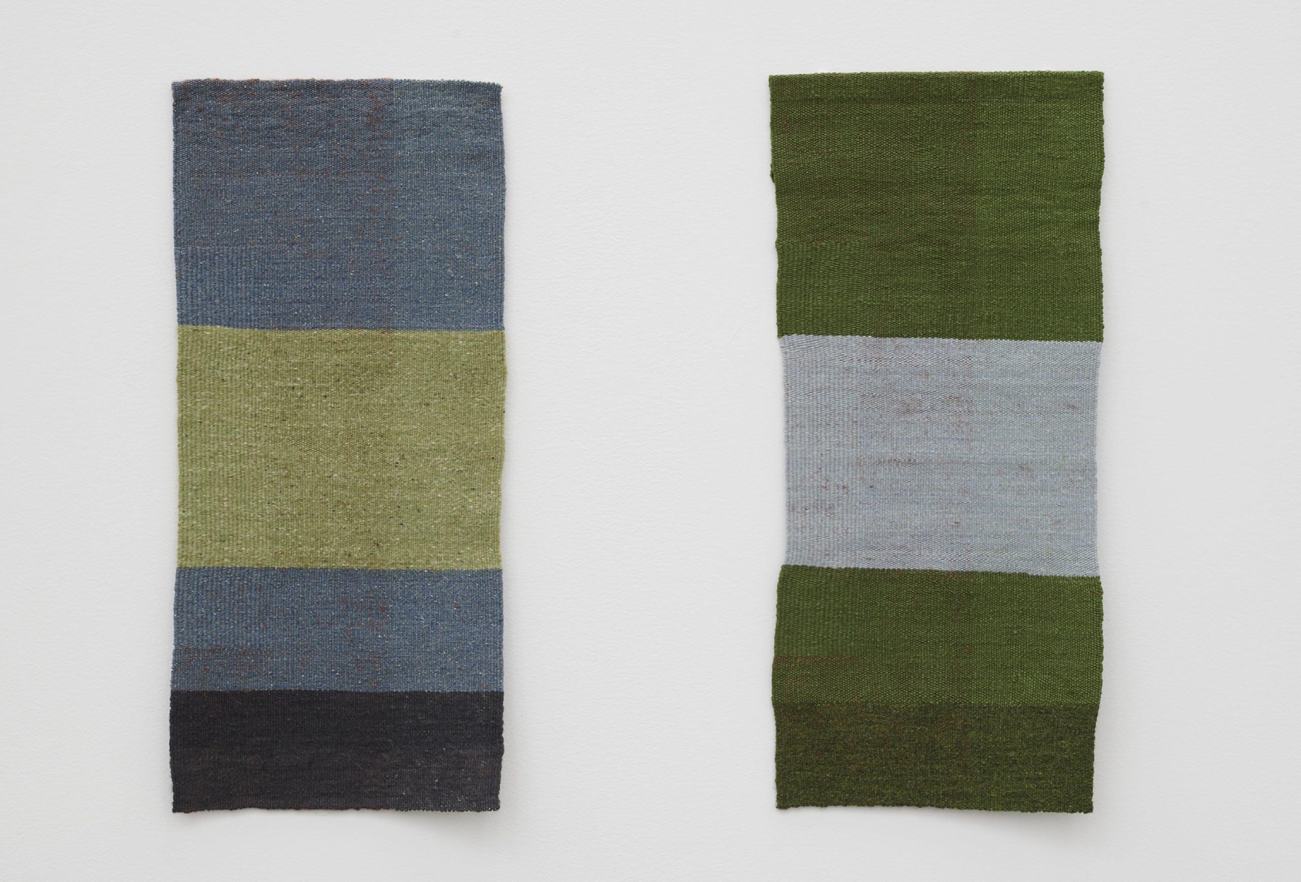 Helen Mirra, May, April, 2017/2019, Linen, silk, wool