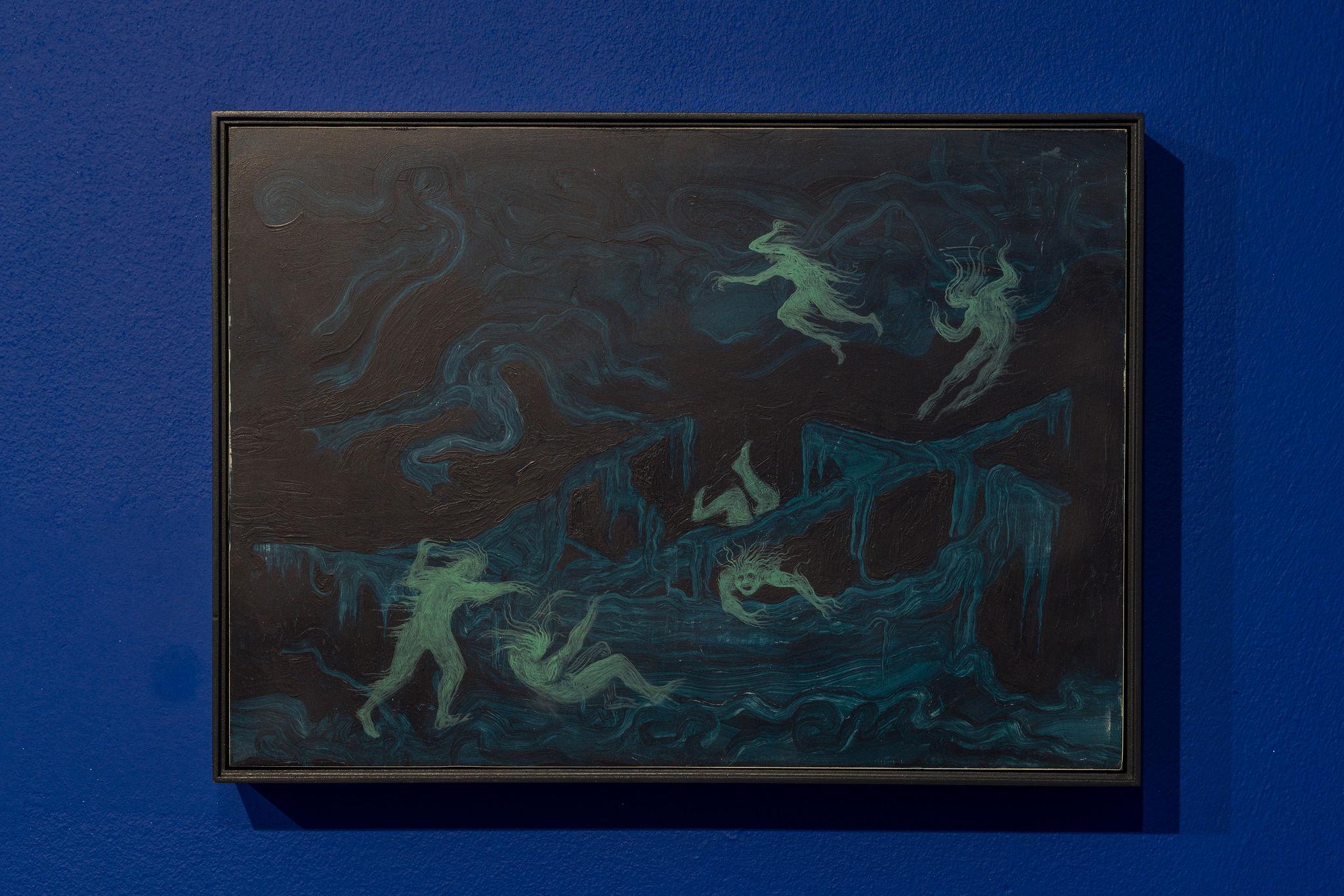 Hortensia Mi Kafchin, Danube Ghosts, 2021, Oil on wood