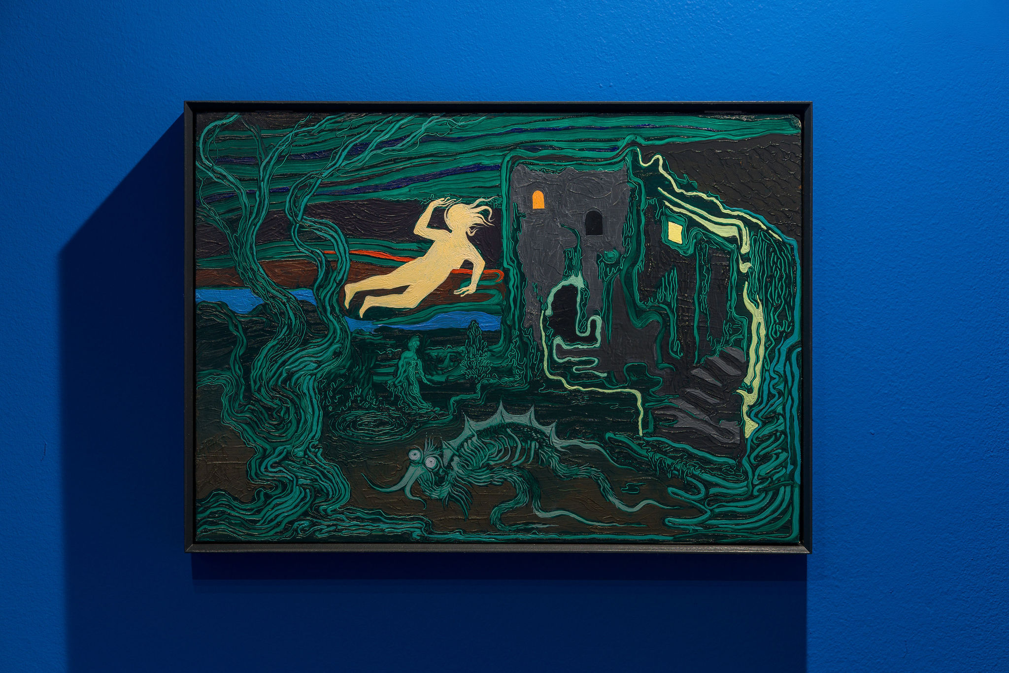 Hortensia Mi Kafchin, Recent dream, 2021, Oil on wood