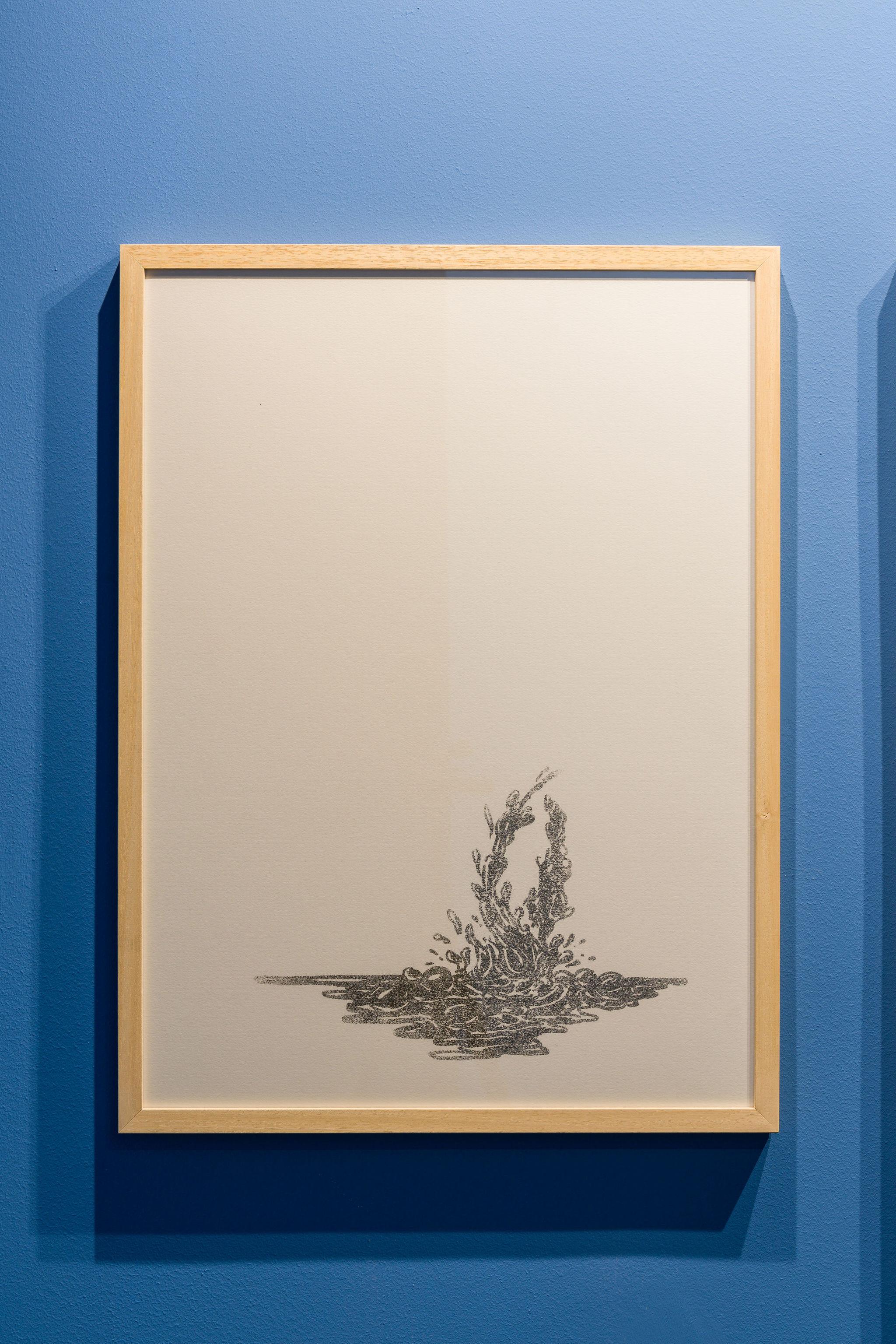 Flaviu Rogojan, Small Assymetriad, 2021, Dye Transfer on Paper
