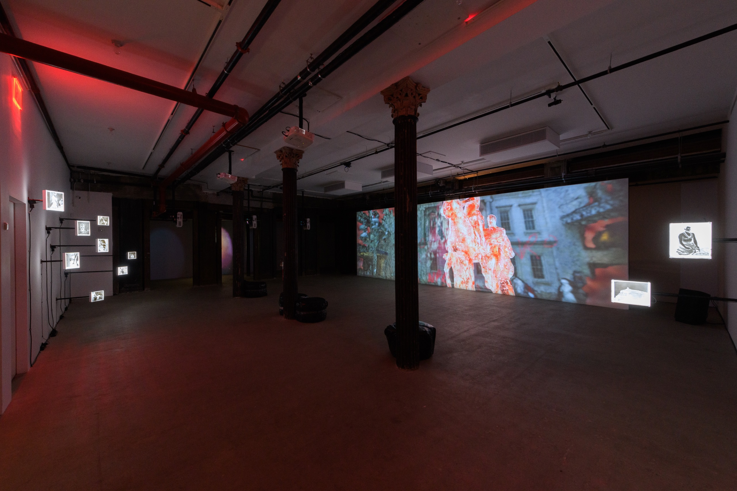 New Red Order: Feel at Home Here. Installation view, Artists Space, 2021. Courtesy Artists Space, New York. Photos: Filip Wolak