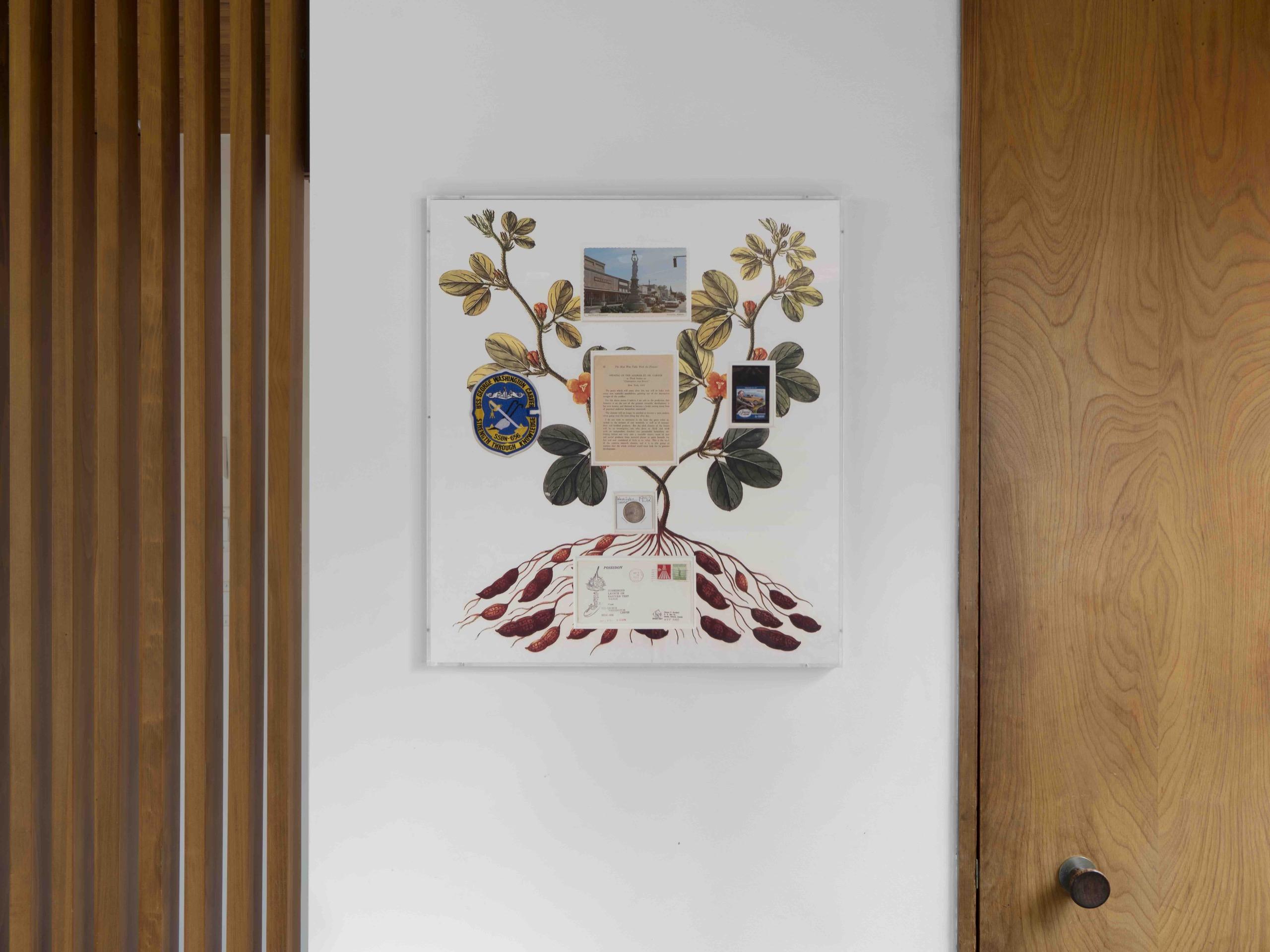 Carver, postcard, patch, stamp, envelope, coin, page, UV print on matte board, 2021