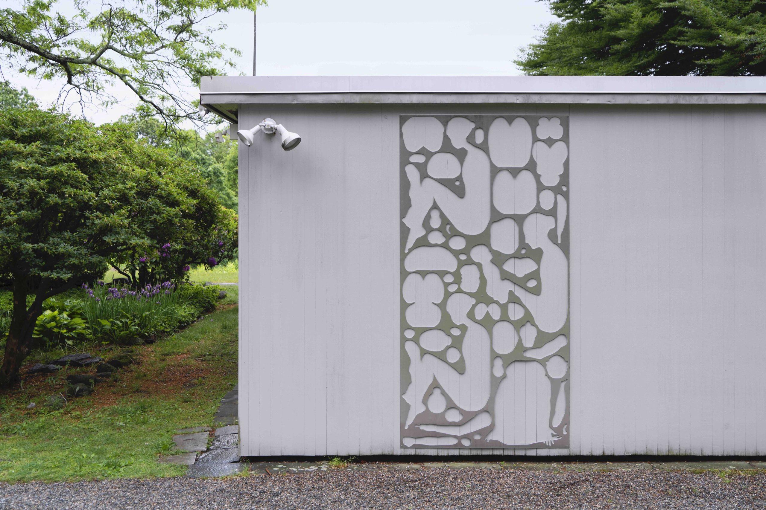 Modernist Sculpture, waterjet aluminum, 2021