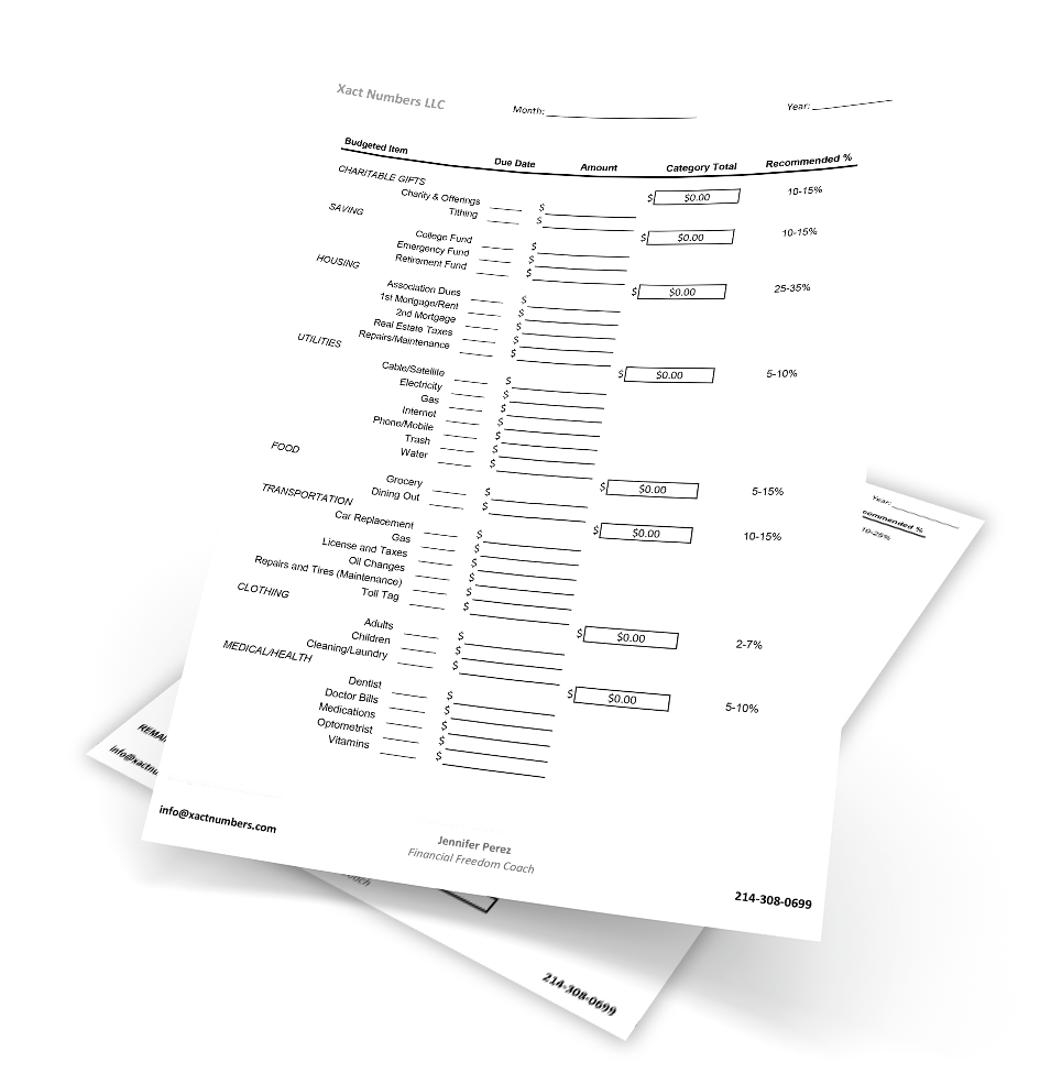 Image of budgeting tool