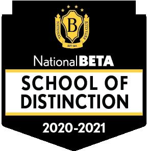 National BETA School of Distinction 2020 - 2021