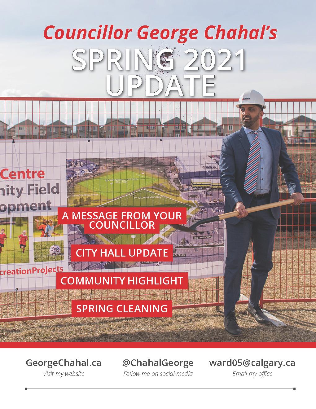 Cover page of George Chahal's Spring 2021 Update.