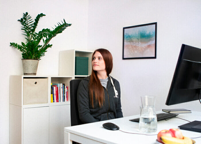 Rückentraining am Arbeitsplatz - Kopfdreher