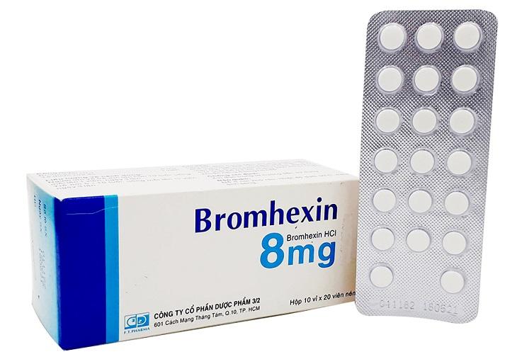 Bromhexin giúp giảm đờm ở bệnh nhân viêm họng hạt