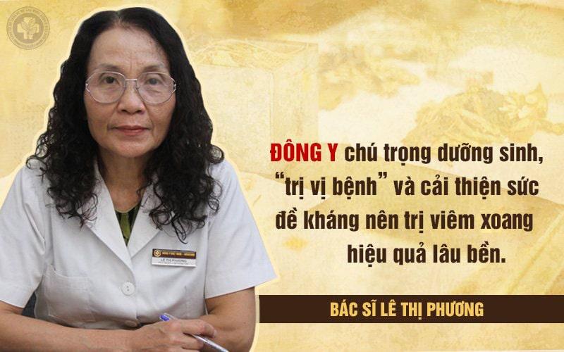 Bác sĩ Lê Phương đánh giá cao Đông y trong chữa viêm xoang