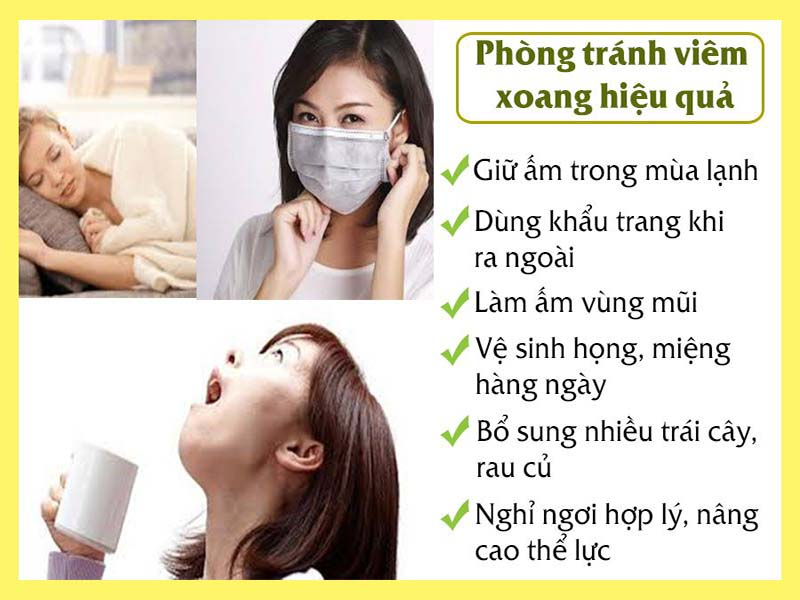 Phòng tránh bệnh viêm xoang hiệu quả