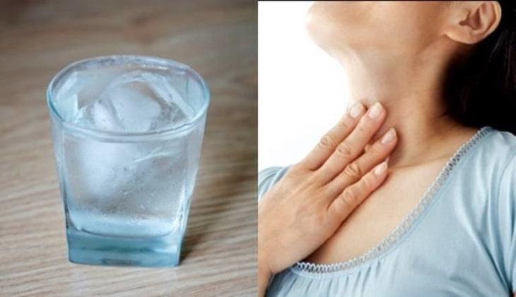 Uống nước đá có gây viêm họng không?