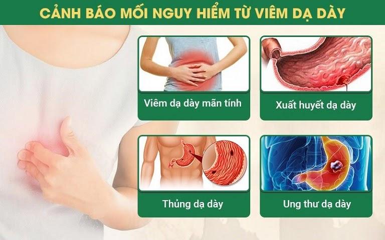 Viêm dạ dày nhanh chóng chuyển sang giai đoạn mạn tính và tiềm ẩn nhiều nguy cơ gây hại sức khỏe