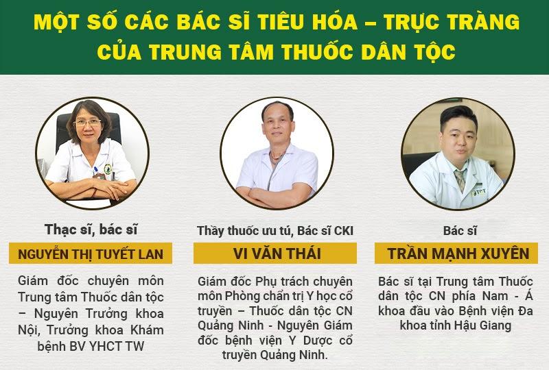 BS Lê Hữu Tuấn và các BS chủ chốt trong chữa bệnh tiêu hóa - dạ dày tại Trung tâm Thuốc dân tộc