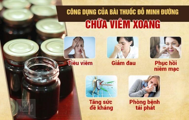 Hiệu quả bài thuốc chữa viêm xoang trán Đỗ Minh Đường
