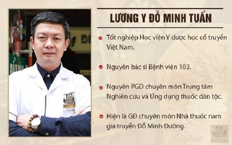 Lương y Đỗ Minh Tuấn - GĐ chuyên môn, truyền nhân đời thứ 5 nhà thuốc Đỗ Minh Đường, Cố vấn y khoa các chương trình sức khỏe trên VTV, VTC
