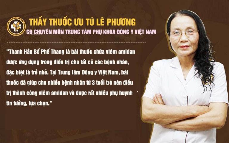 Bác sĩ Lê Phương chia sẻ bài thuốc Thanh Hầu Bổ Phế Thang