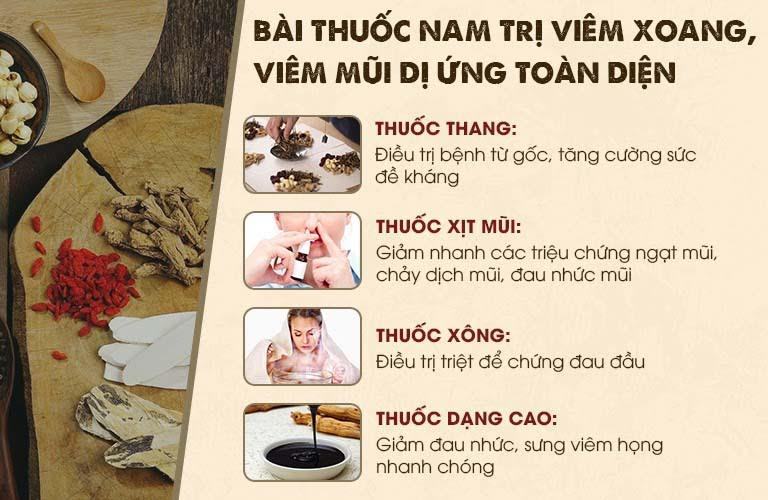 Combo điều trị toàn diện viêm mũi dị ứng Tiêu Xoang Linh Dược Thang